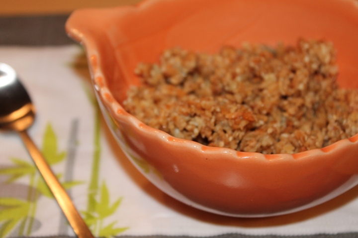Céréales croustillantes à la noix de coco etmiel