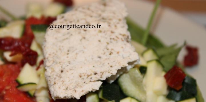 Tofu maison au cumin et authym