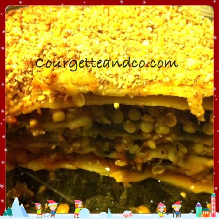 Lasagnes végétales aux lentillescorail
