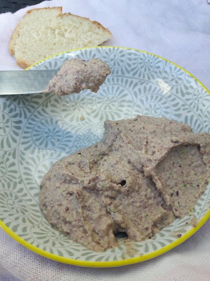 Houmous de haricotsrouge/courgette
