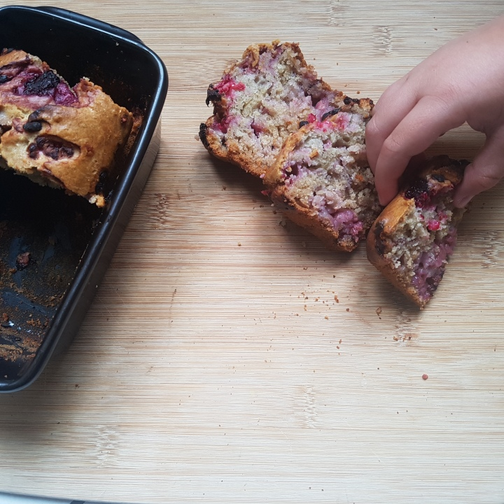 Cake vegan framboises/citron