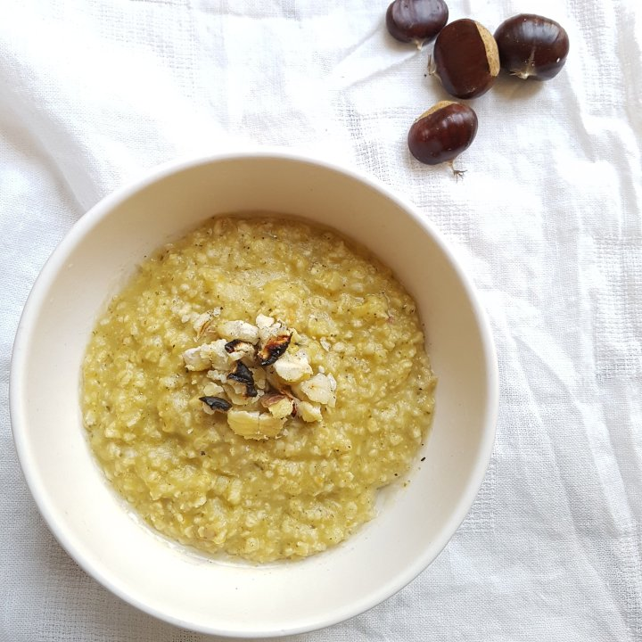 Porridge du soir aux châtaignes