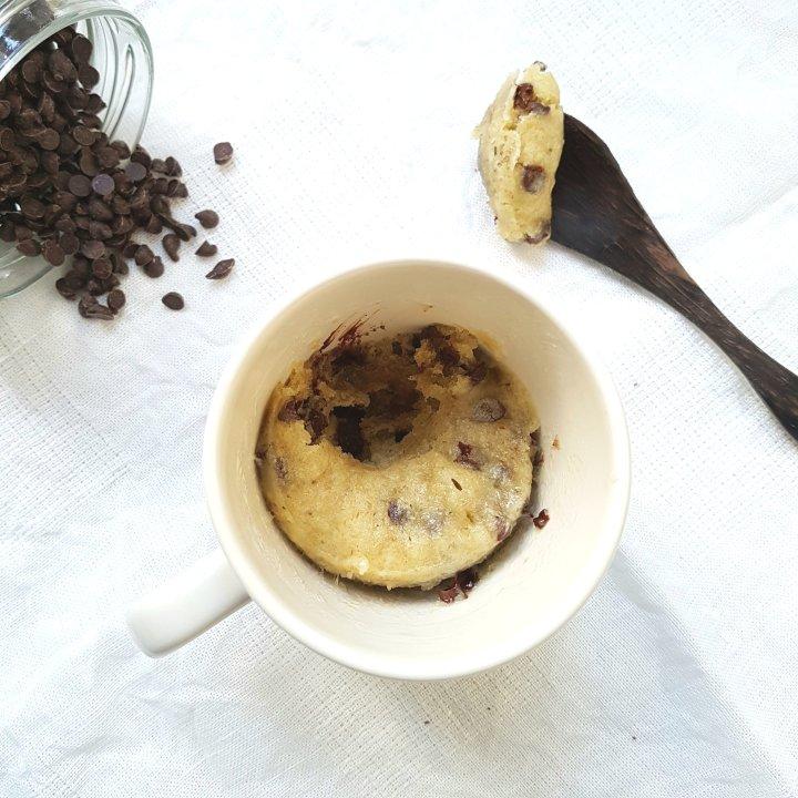 Mug cake aux petites dechocolat