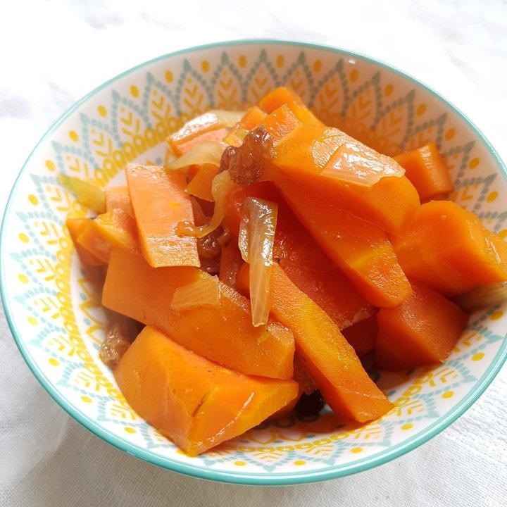 Carottes glacées au jus depommes