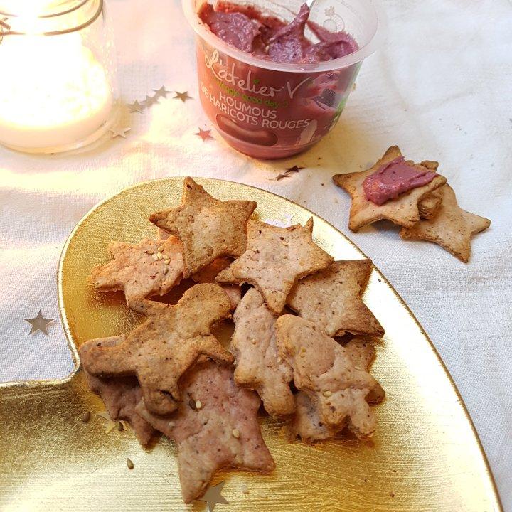 Biscuits salés de Noël auhoumous