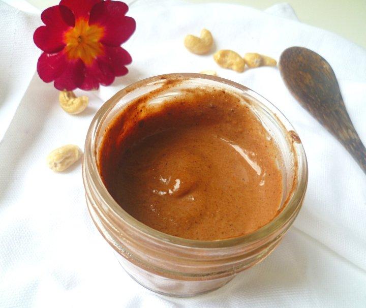 Crème de cajou auchocolat