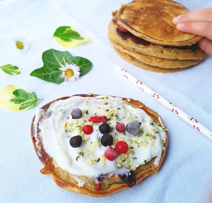 Pancakes vegan protéinés
